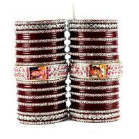 personalized photo bangles set  colour maroon size-2.4.2.6.2.8.2.10