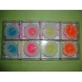 2 Sets Of Flower Shape Floating Candles - 4x2 Pc (multicoloured)