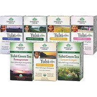 Set Of 7 - Tulsi Tea 18 TB Tulsi Pomegranate Honey Chamococile Green Tea Lemon