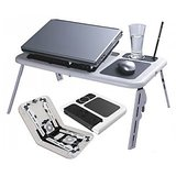E Table - Foldable & Portable Laptop Stand/ Portable Laptop Table/ Laptop Holder/ Bed Table /Reading Table [CLONE]