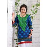 AccelDiamond Designer Ready To Wear Stitched Cotton Kurti (KR_73)