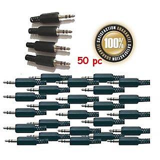 50PC lot 3.5mm Stereo Male Plug