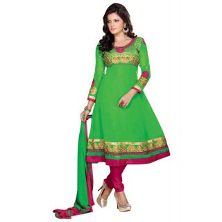 Surat Tex Green Color Georgette Semi-Stitched Anarkali-C666DL1002AM