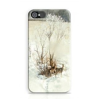 Artifa Deer In Snow Covered Forest Phone Case For Apple Iphone 4S And Iphone 4 I4C1254