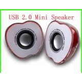 Half Apple Shaped USB Powered 2.0 Multimedia Speakers For PC Laptop Mp3 Phones