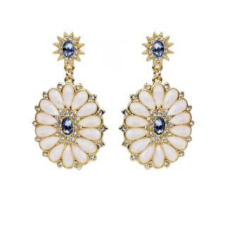 The Pari White Drop Earring (Fny-924)