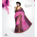 SHINE CHIFFON SAREE IN DOUBLE SHADES         VS-8611