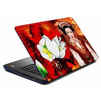 Mesleep Red Lady Flower Laptop Skin LS-05-25