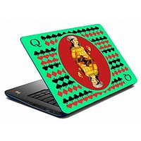 Mesleep Green Card Queen Laptop Skin LS-05-34