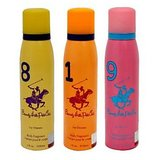 Beverly Hills Polo Club Deodorant Combo For Women - Eight + One + Nine
