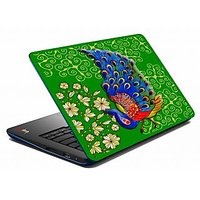 Mesleep Green Peacock Laptop Skin LS-05-56