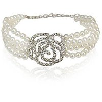 rose bracelet with pearl. BR-71