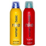 Nike Basic Deodorant For Women - Yellow + Scarlet
