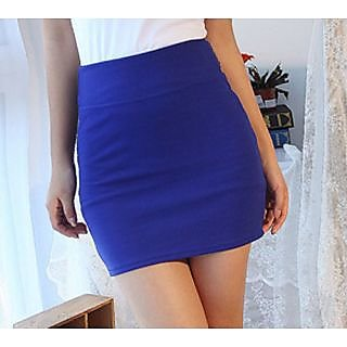 Fashion Stretch Tight Short Mini Skirt Blue at Best Prices ...