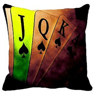 meSleep Poker Digitally Printed 16x16 inch Cushion Cover