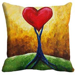 meSleep Heart Digitally Printed 16x16 inch Cushion Cover