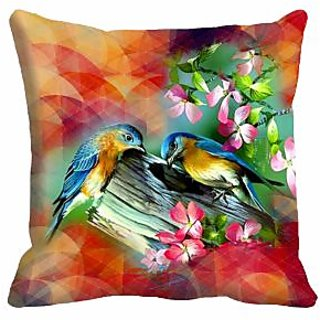 meSleep Sparrow Digitally Printed 16x16 inch Cushion Covers