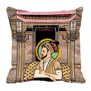 meSleep Raja Digitally Printed 16x16 inch Cushion Cover