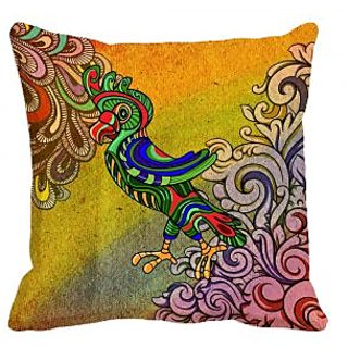 cushion covers meSleep Ethnic Parrot Digitally Printed cushion covers
