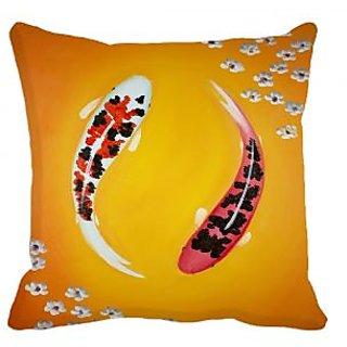meSleep Fish Digitally Printed Cushion Cover (16x16)