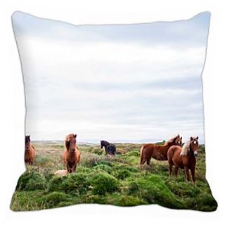 meSleep Horses 3D Cushion Cover - (16x16)
