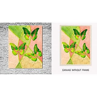 Canvas Painting Without Frame -Butterfly
