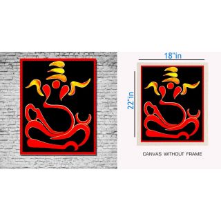 Canvas Painting Without Frame - Ganesha Outline