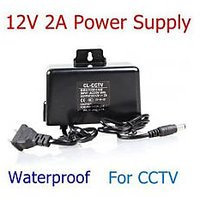 12V 2A CCD Outdoor Waterproof Dedicated Monitoring Power Supply For CCTV Camera