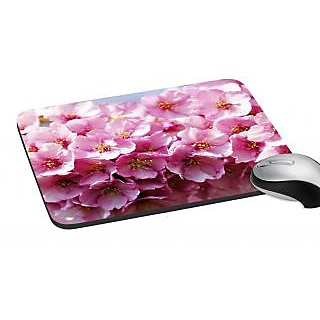 meSleep Pink Flower Mouse Pad