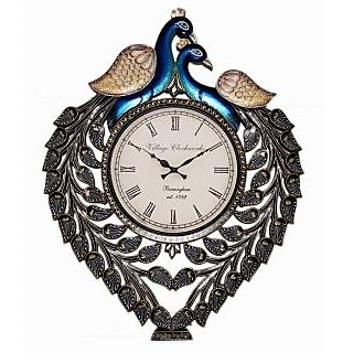 RoyalsCart Peacock Analog Wall Clock