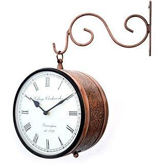 RoyalsCart Double Sided Railway Station/Platform Analog Wall Clock
