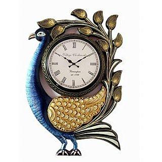 RoyalsCart Peacock Analog Wall Clock