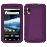 Amzer 90457 Silicone Skin Jelly Case - Purple For Motorola ATRIX MB860