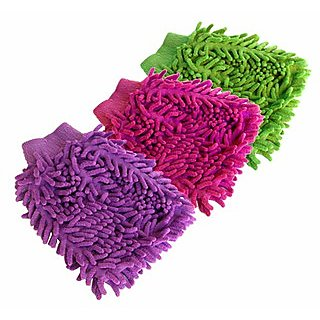 Imported Microfibre Cleaning Gloves( Set Of 3Pcs)