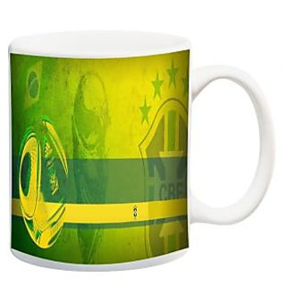 Yellow Stripe Football Mug