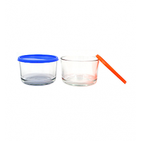 yera Glassware Candy Glass Bowl with Lid - BS350 - (4 pieces,350 ml )