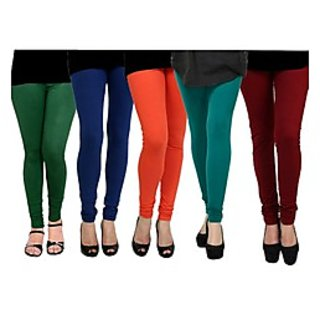 Pack of 5 Kjaggs Cotton Lycra Legging KTL-FV-12-13-14-15-6