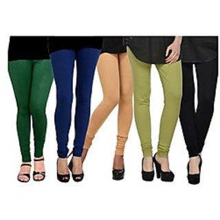 Pack of 5 Kjaggs Cotton Lycra Legging KTL-FV-14-15-16-17-1