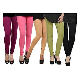 Pack of 5 Kjaggs Cotton Lycra Legging KTL-FV-16-17-18-19-1