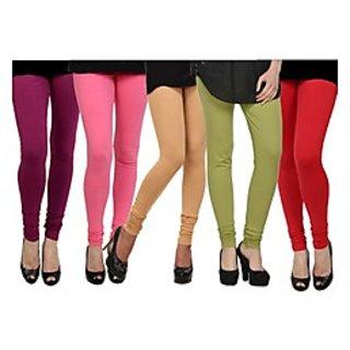 Pack of 5 Kjaggs Cotton Lycra Legging KTL-FV-16-17-18-19-2