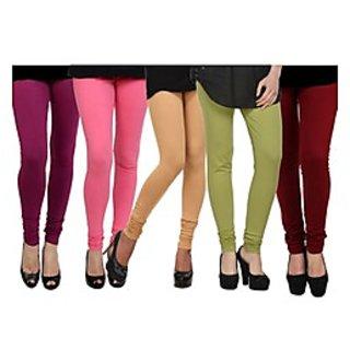 Pack of 5 Kjaggs Cotton Lycra Legging KTL-FV-16-17-18-19-6