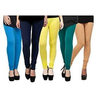 Pack of 5 Kjaggs Cotton Lycra Legging KTL-FV-9-10-11-12-17