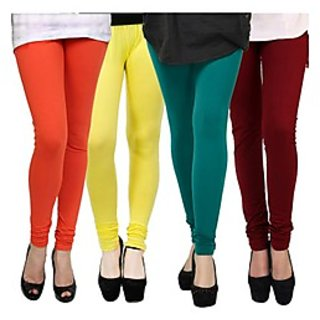 Kjaggs Multi-Color Cotton Lycra Full length legging (KTL-FR-11-12-13-6)