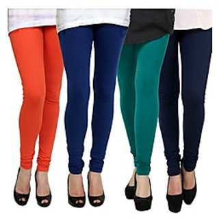 Kjaggs Multi-Color Cotton Lycra Full length legging (KTL-FR-12-13-14-10)