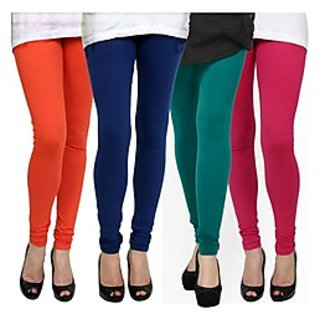 Kjaggs Multi-Color Cotton Lycra Full length legging (KTL-FR-12-13-14-8)