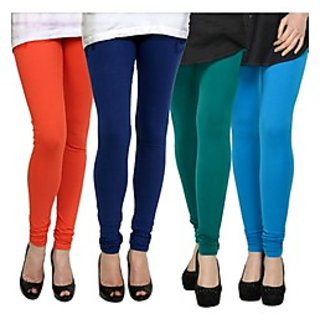 Kjaggs Multi-Color Cotton Lycra Full length legging (KTL-FR-12-13-14-9)