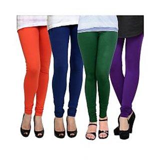 Kjaggs Multi-Color Cotton Lycra Full length legging (KTL-FR-13-14-15-7)