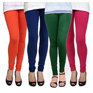 Kjaggs Multi-Color Cotton Lycra Full length legging (KTL-FR-13-14-15-8)