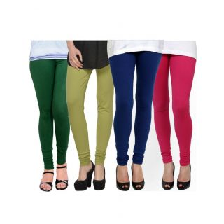 Kjaggs Multi-Color Cotton Lycra Full length legging (KTL-FR-14-15-16-8)