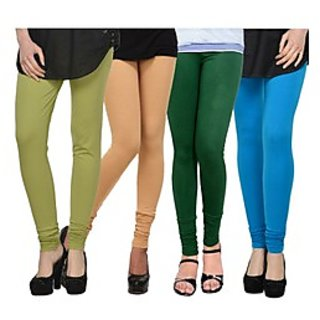 Kjaggs Multi-Color Cotton Lycra Full length legging (KTL-FR-15-16-17-9)